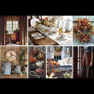 🆕 Ralph Lauren Home harvest plaid rust tablecloth